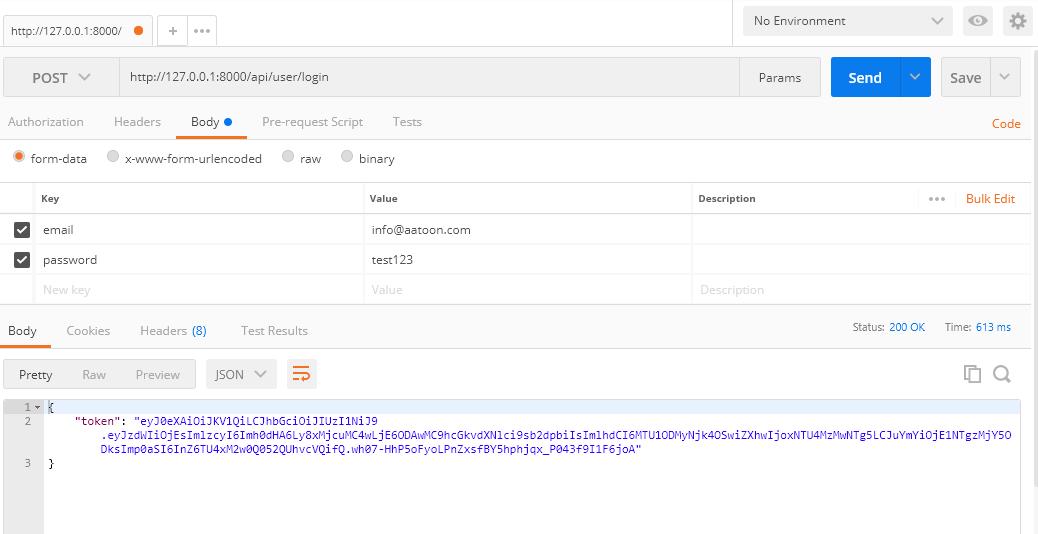 Laravel JWT Authentication – Tech News, Tutorials, Sample Codes